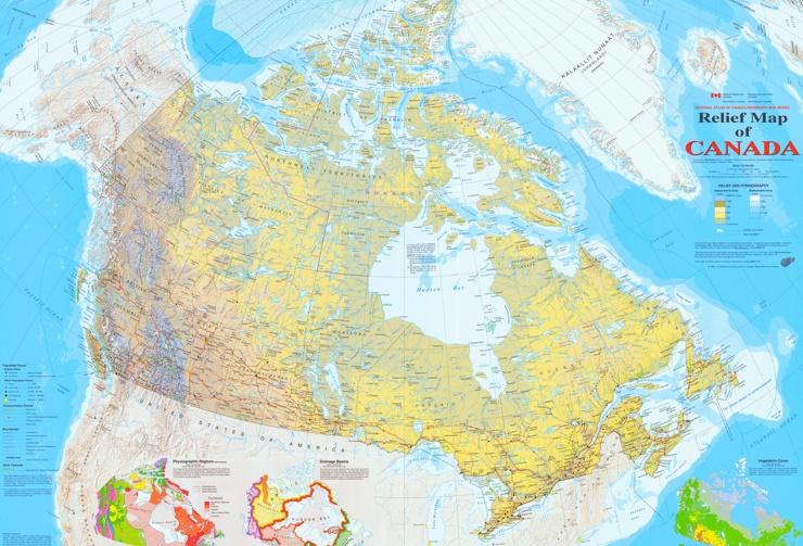 Straßenkarte Kanada