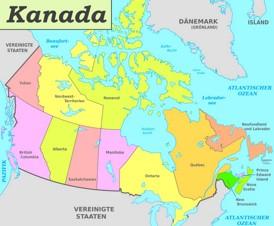 Verwaltungskarte von Kanada