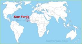 Kap Verde auf der Weltkarte