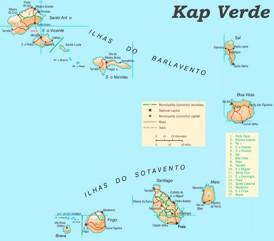 Kap Verde politische karte