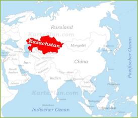 Kasachstan auf der karte Asiens