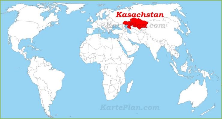 Kasachstan auf der Weltkarte