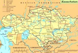 Kasachstan politische karte
