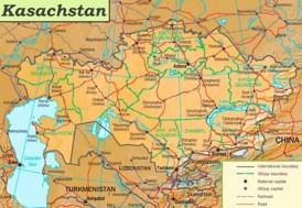 Straßenkarte Kasachstan
