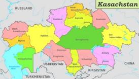 Verwaltungskarte von Kasachstan