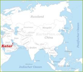 Katar auf der karte Asiens