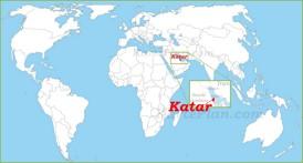 Katar auf der Weltkarte