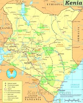 Kenia politische karte