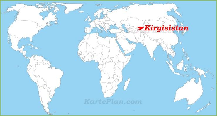 Kirgisistan auf der Weltkarte