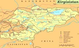 Kirgisistan politische karte
