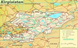 Straßenkarte Kirgisistan