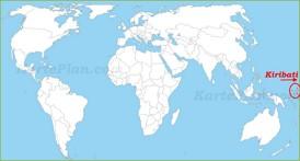 Kiribati auf der Weltkarte