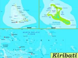 Kiribati politische karte