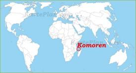 Komoren auf der Weltkarte