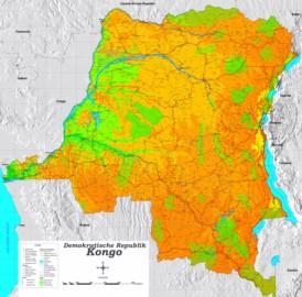 Große detaillierte karte von Demokratische Republik Kongo