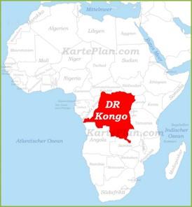 Demokratische Republik Kongo auf der karte Afrikas