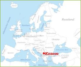 Kosovo auf der karte Europas