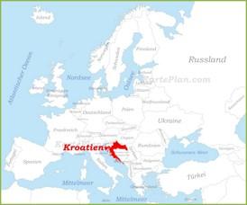 Kroatien auf der karte Europas