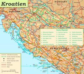 Kroatien politische karte