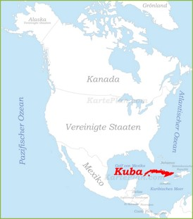 Kuba auf der karte Nordamerikas