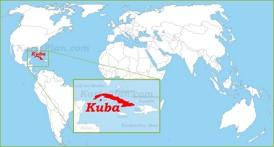 Kuba auf der Weltkarte
