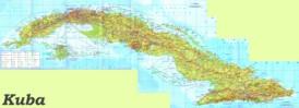 Kuba touristische karte