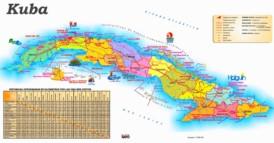 Straßenkarte Kuba