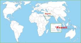 Kuwait auf der Weltkarte