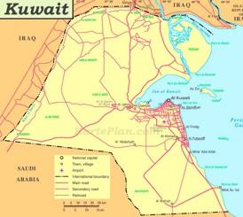 Kuwait politische karte