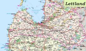 Große detaillierte karte von Lettland