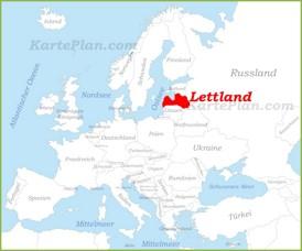 Lettland auf der karte Europas
