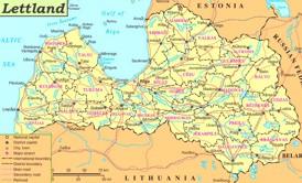 Lettland politische karte