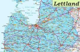 Straßenkarte Lettland