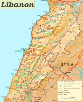 Straßenkarte Libanon