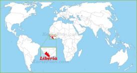 Liberia auf der Weltkarte