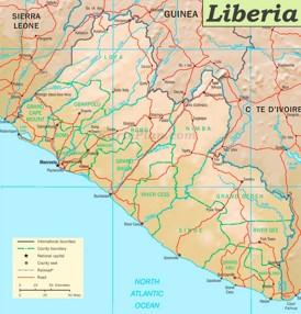 Straßenkarte Liberia