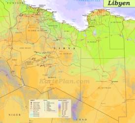 Große detaillierte karte von Libyen