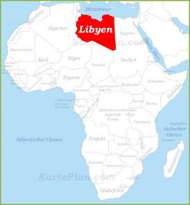 Libyen auf der karte Afrikas