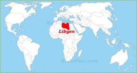 Libyen auf der Weltkarte