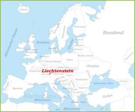 Liechtenstein auf der karte Europas