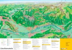 Liechtenstein touristische karte