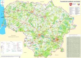 Große detaillierte karte von Litauen