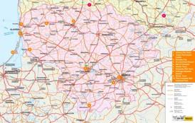 Litauen karte mit städten