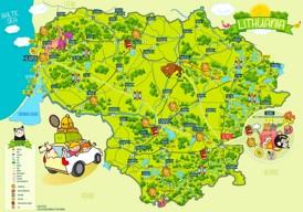 Litauen touristische karte