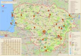 Straßenkarte Litauen