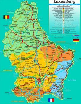 Luxemburg touristische karte