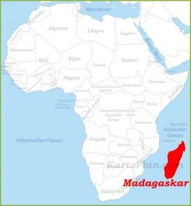 Madagaskar auf der karte Afrikas