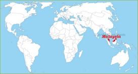 Malaysia auf der Weltkarte