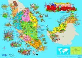 Malaysia touristische karte