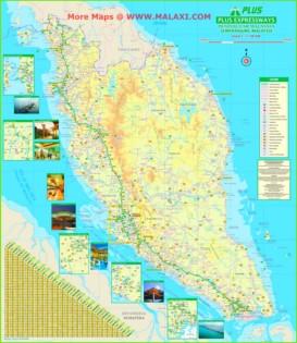 Straßenkarte von Malaysia
